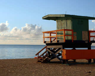 Fototapete «Lifeguard Hut» DD100170