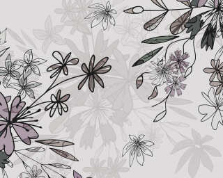Fototapete «Floral Sketch Purple» DD112641