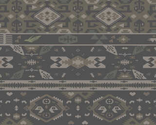 Fototapete «Tribal Pattern Brown» DD112686