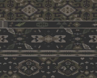 Fototapete «Tribal Pattern Black» DD112691